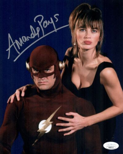 AMANDA PAYS Signed THE FLASH 8x10 Photo IN PERSON Autograph MAX HEADROOM JSA COA