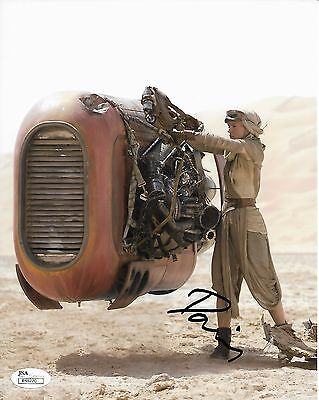 Daisy Ridley Star Wars Autographed Signed 8X10 Photo Jsa Coa  1