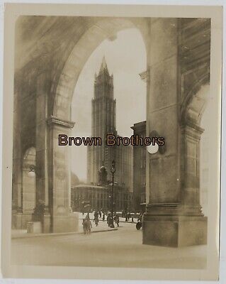 Vintage 1910s NYC Woolworth Building Highest Building in World Photos #11 (2p)