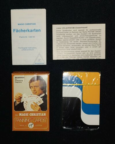 RARE SEALED DECK OF MAGIC CHRISTIAN FANNING, PLAYING CARDS BY PIATNIK OF AUSTRIA