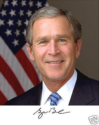 President George W  Bush Usa Autograph 8 X 10 Photo Portrait Picture