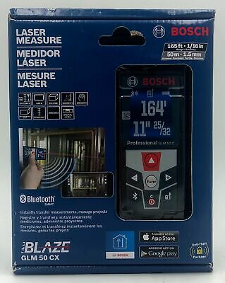 Bosch GLM50CX BLAZE Laser Distance Measurer with Bluetooth 165 ft