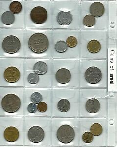 ISRAEL-A-COLLECTION-OF-27-ASSORTED-COINS
