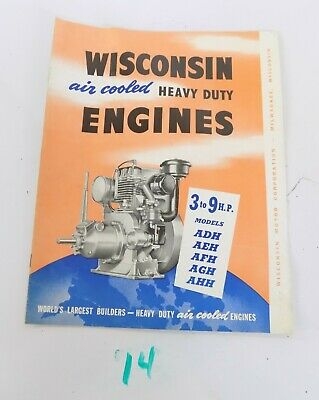 Wisconsin Air Cooled Heavy Duty Engines Adh Aeh Afh Agh Ahh Sales Brochure