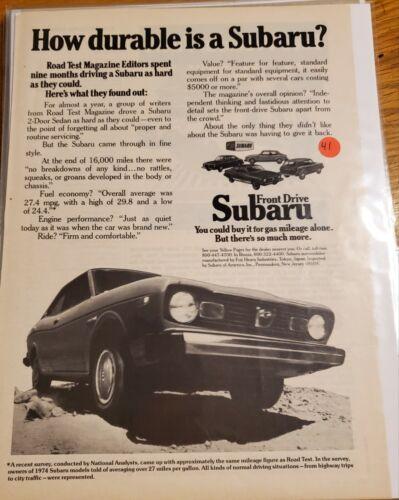 MAN CAVE ART- Vintage Advertising June 1974 Subaru  #41