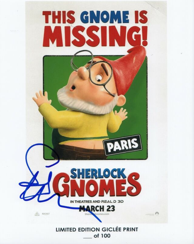 STEPHEN MERCHANT signed (SHERLOCK GNOMES) Movie 8X10 photo *Paris* W/COA #2