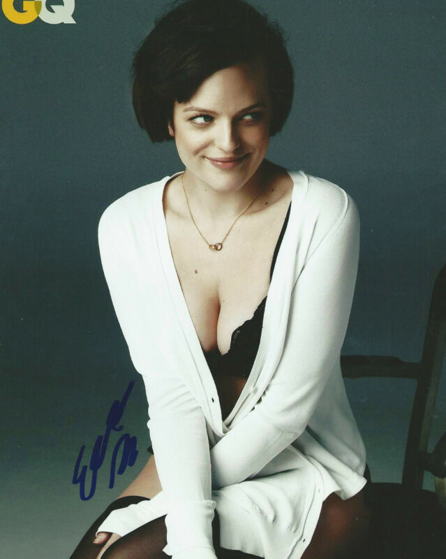 **GFA Mad Men-Peggy Olson *ELISABETH MOSS* Signed 8x10 Photo MH2 COA**