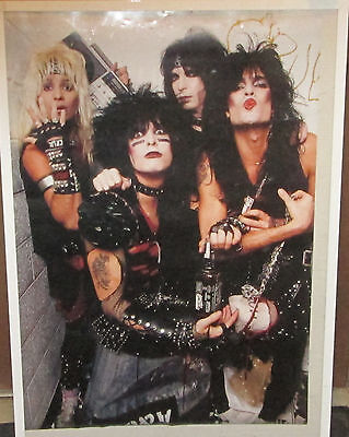 MOTLEY CRUE POSTER HAIR HEAVY METAL VINTAGE RARE SEALED mid 2000's ORIGINAL