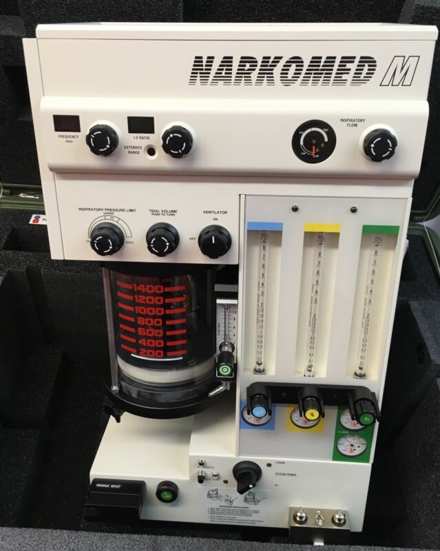 Drager Narkomed M Mobile Anesthesia Machine w/ Ventilator - Excellent Condition