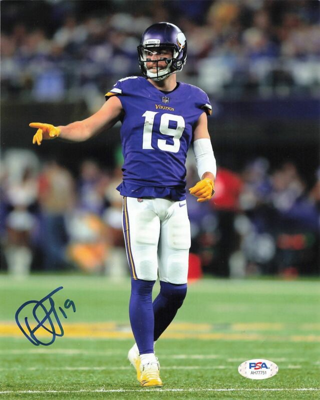 Adam Thielen signed 8x10 photo PSA/DNA Minnesota Vikings Autographed