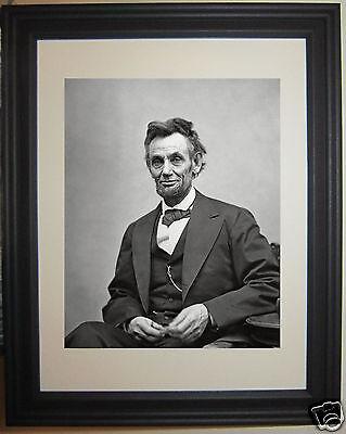 Abraham Lincoln Official Portrait Civil War Framed   Matted Photo