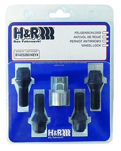 H+R Felgenschloß für BMW 14 x 1,25 x 28mm Kegelbund für Alu und Stahlfelgen