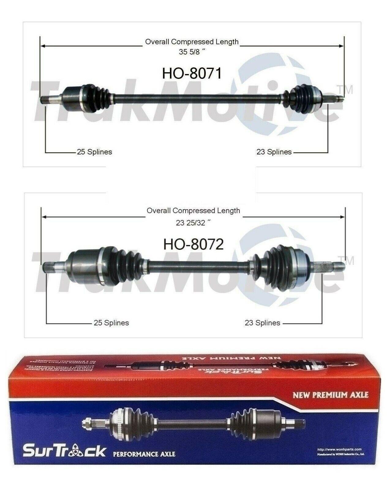 SurTrack HO-8071 CV Axle Shaft