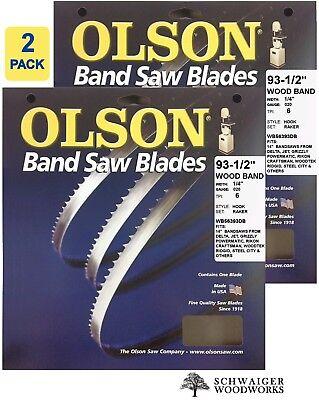 "Olson Wood Band Band Saw Blades 93-1/2"" x 1/4""  6TPI,  Made"