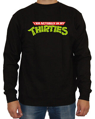 In my thirties Sweater Fun Kult Splinter Teenage - Ninja Turtle Sweatshirt