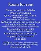 Room for rent -  Quiet, mature share house in north Bellingen Bellingen Bellingen Area Preview