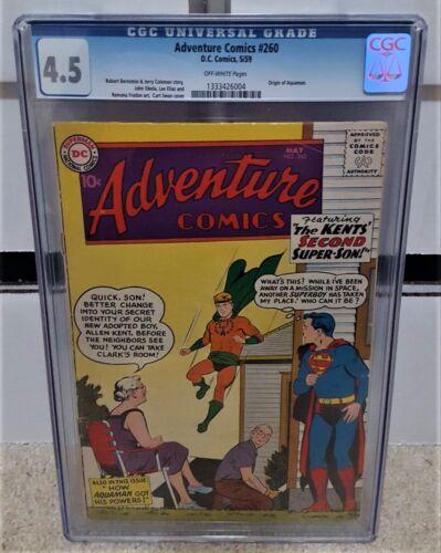 Adventure Comics #260 (1959) CGC 4.5 - 1st SA Appearance & Origin of Aquaman KEY