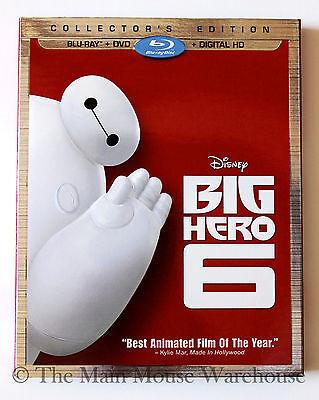 Disney Marvel Big Hero 6 Six Hiro Baymax Blu-ray DVD & Digital Copy Combo Pack