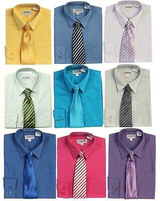 Dress Shirt Boys (Shirt Dress Boys Long Sleeve Button Down and Tie Toddler Size 2T 18 Regular)