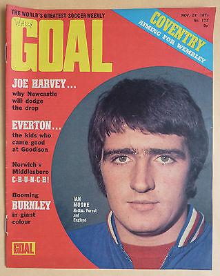 GOAL FOOTBALL MAGAZINE - 27.11.71 - ISSUE 173 - BURNLEY TEAM PHOTO - CLYDE (Best Football Team Goals)