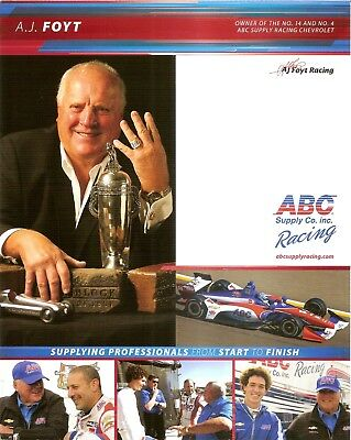 2018 AJ FOYT INDIANAPOLIS 500 HERO PHOTO CARD INDY CAR ABC SUPPLY CO INC RACING - Auto Racing Supplies