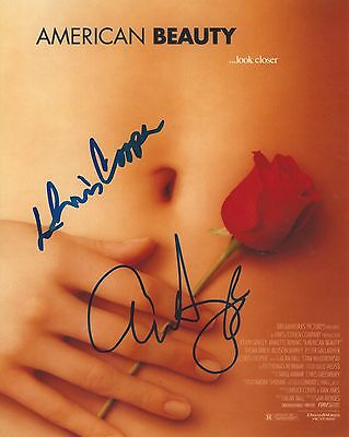 Chris Cooper   Annette Bening Signed American Beauty 8X10 Photo  In Person Proof