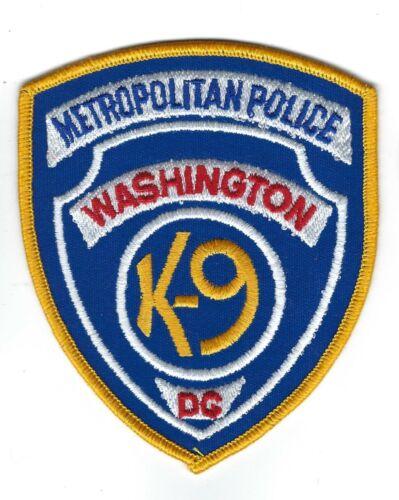 old style Washington DC Metropolitan Police K-9 K9 patch - NEW!