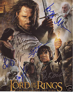 LORD OF THE RINGS CAST AUTOGRAPH SIGNED PP PHOTO POSTER