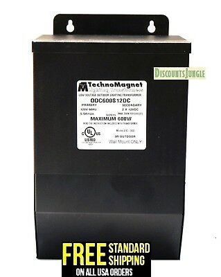 Technomagnet Magnetic Low Voltage Outdoor Lighting Transformer Odc600s12dc 600w