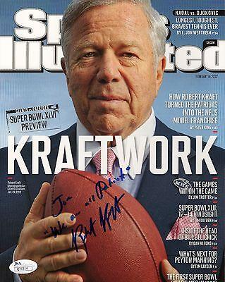 Robert Kraft Hand Signed 8X10 Color Photo       Patriots Owner   To Joe      Jsa