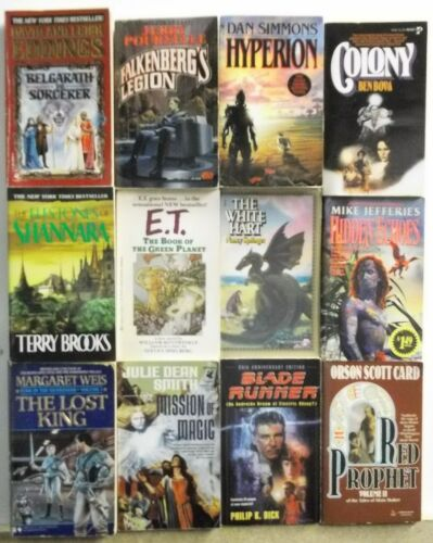 Huge Lot of 12 Science Fiction Fantasy Novels FREE US S/H Read List Lot #A765