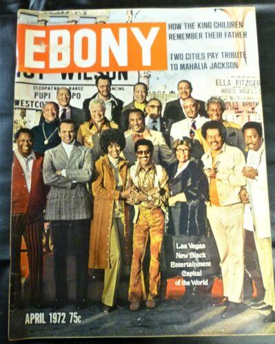 1972 April EBONY Magazine LAS VEGAS, BLACK ENTERTAINMENT CAPITAL