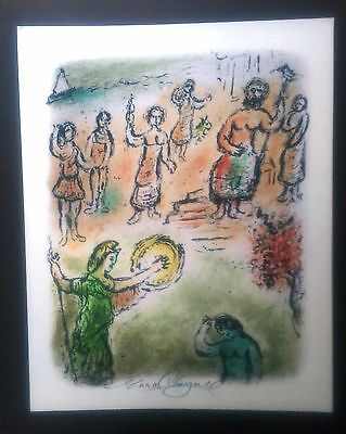 "RARE Marc Chagall, ""Assembly of the Gods,"" pencil signed print."