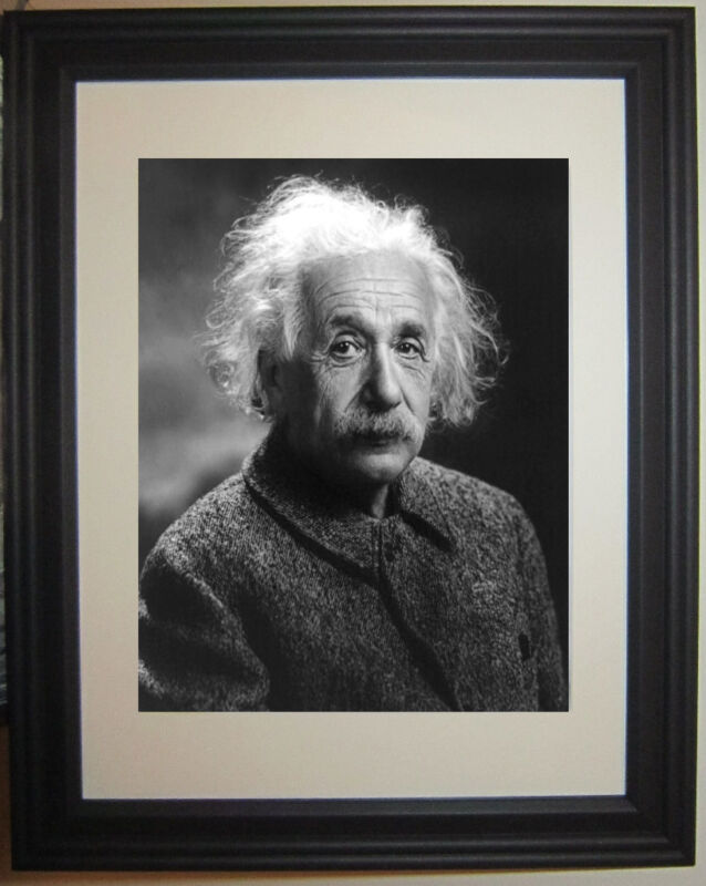 Albert Einstein Famous Physicist Framed & Matted Photo Picture Photograph
