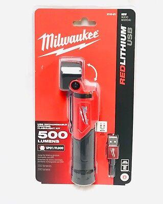 Milwaukee 2113-21 USB Rechargable Pivoting Flashlight New