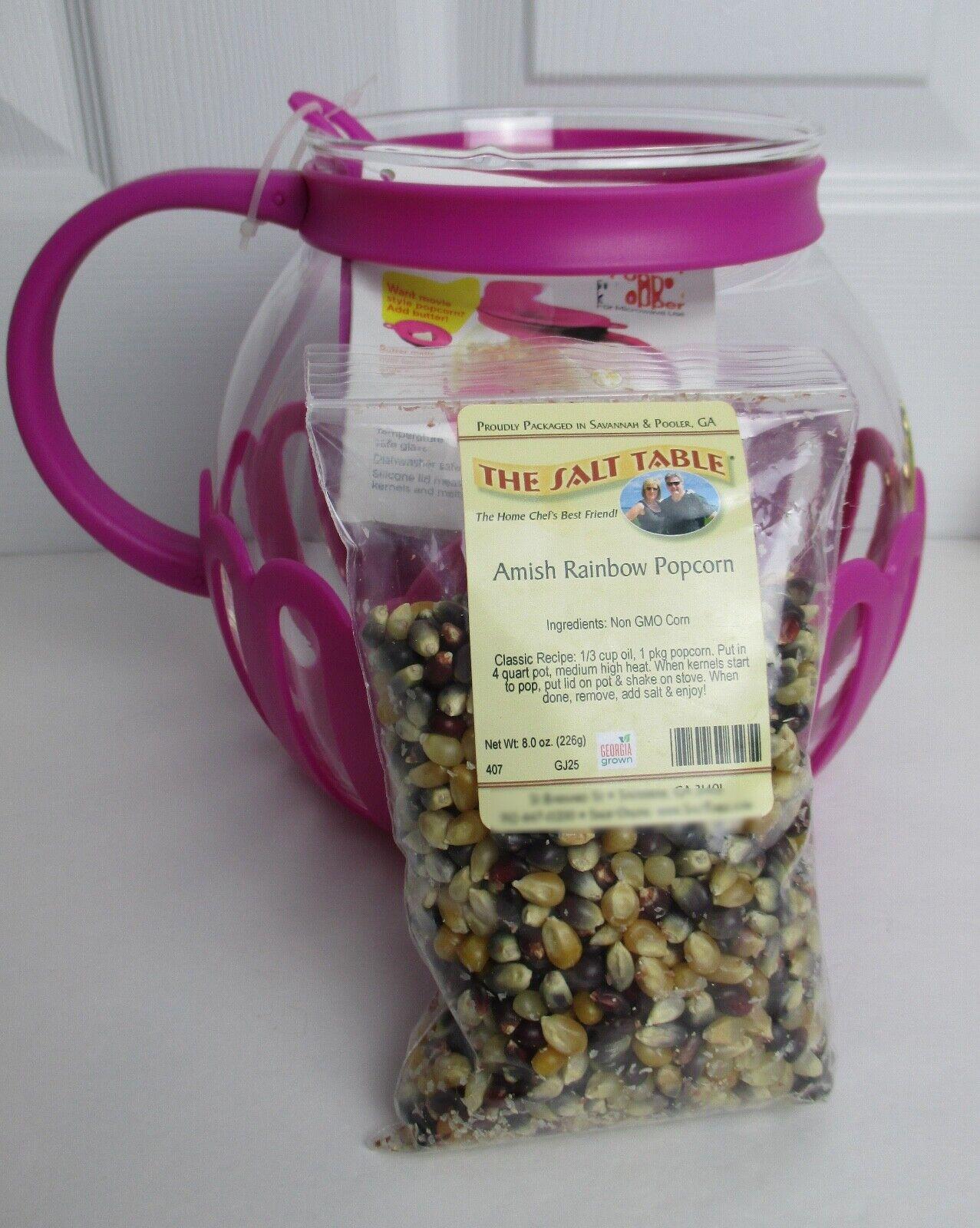 Ecolution Micro-Pop Microwave Glass Popcorn Maker Fuchsia 3