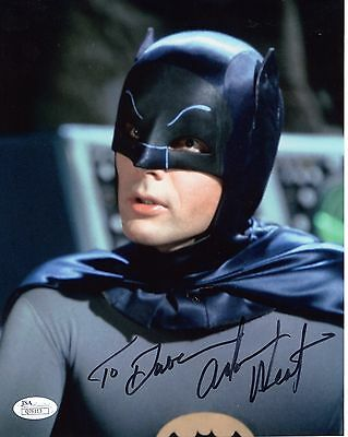 ADAM WEST HAND SIGNED 8x10 COLOR PHOTO   AWESOME     BATMAN     TO DAVE      JSA