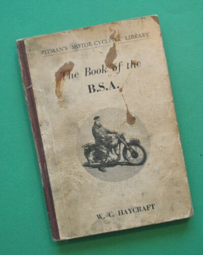 1945-54 BSA Motorcycle Service Manual Book C10 C11 M20 M21 B31 B32 B33 B34 M33