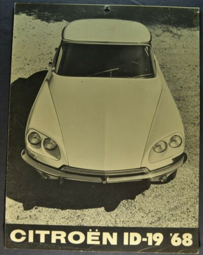 1968 Citroen ID-19 Sales Brochure Folder Sedan Original 68