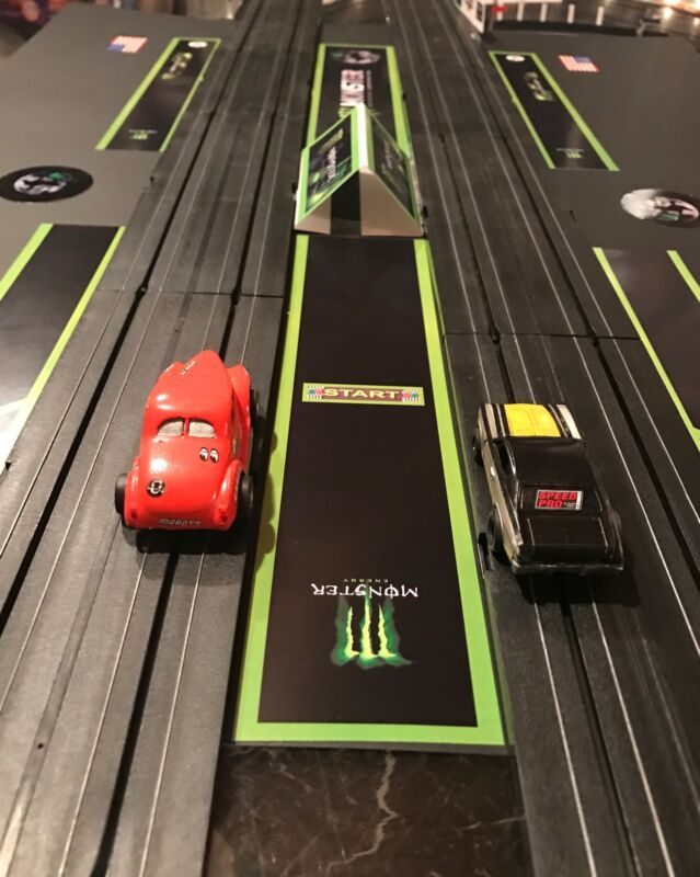 HO SCALE DRAG STRIP STAGING AND BURNOUT AREA #1