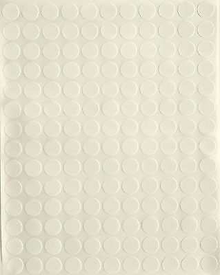 White Color Coding Labels Round Circles Stickers 38 Inch 10mm Map Dots Sheets