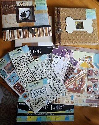 Daisy Hill Dog & Cat Scrapbook Kit, 2 Scrapbooks, Brown and Blue Cat Scrapbook Kit