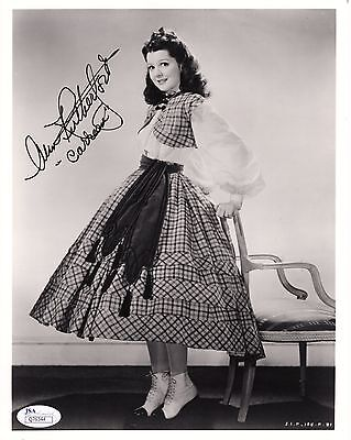 ANN RUTHERFORD HAND SIGNED 8x10 PHOTO    CARREEN FROM GONE WITH THE WIND     JSA