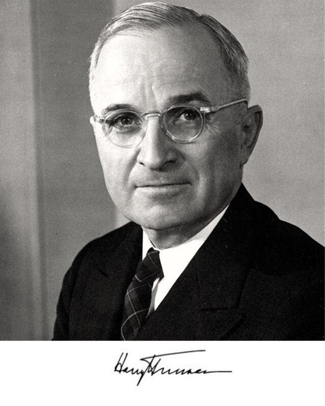 President Harry S. Truman Autograph 8 x 10 Photo Picture Photograph #a1