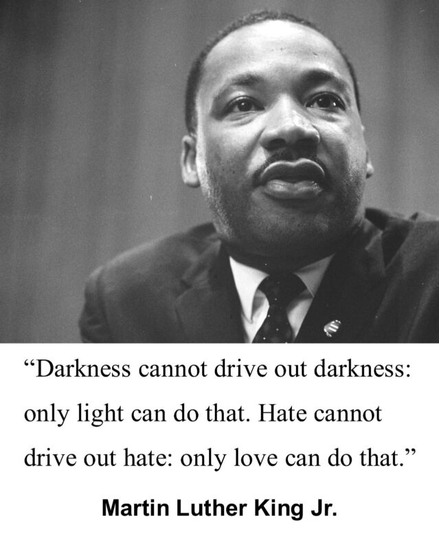 """Martin Luther King Jr. MLK """" only light"""" Famous Quote 8 x 10 Photo Picture # hg1"""