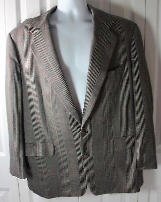 Norman Hilton 46L Tailored in USA 2 Button Blazer Suit Jacket