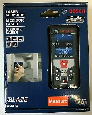 Bosch Glm 42 Blaze Laser Measure 135ft 40m W Color Display