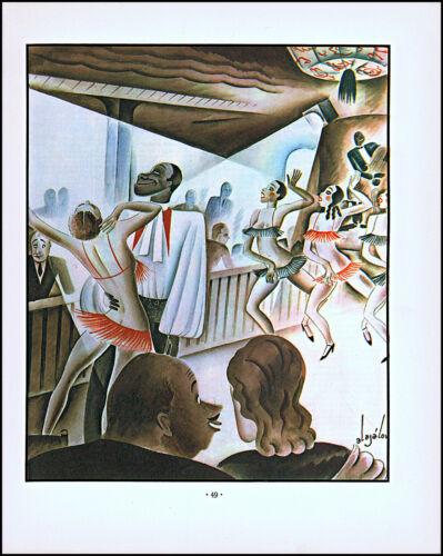 1933 Constantin Alajalov art Black Americana risque dancing vintage print  XL3
