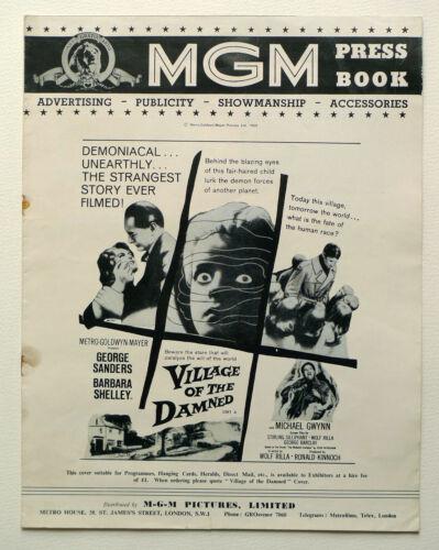 MGM UK PRESSBOOK Village Of The Damned George Sanders Barbara Shelley Wolf Rilla