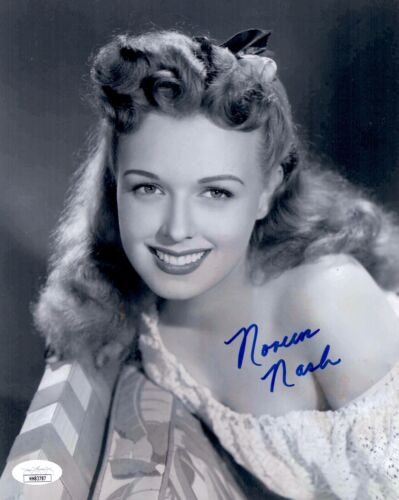 NOREEN NASH Signed GIANT 8x10 Photo In Person Autograph GOLDEN AGE JSA COA Cert